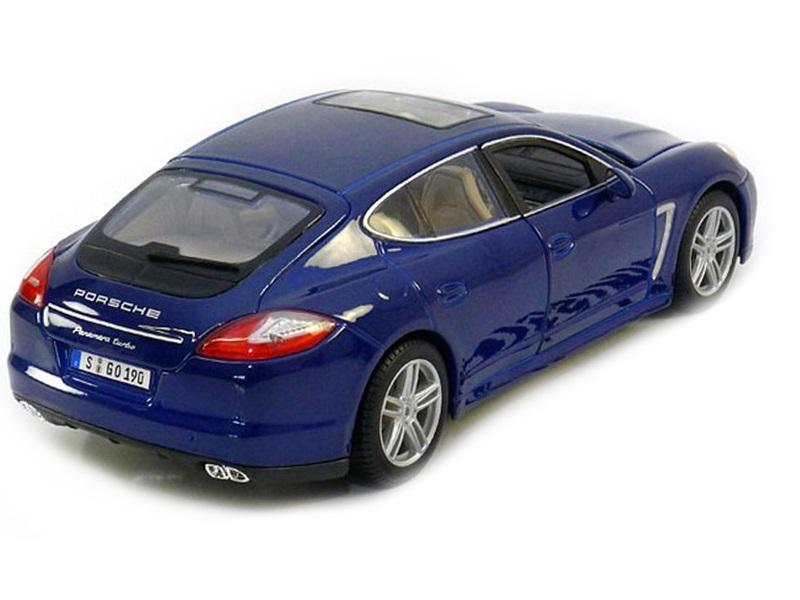 Коллекционная модель Porsche Panamera Turbo 2009 Blue Metallic