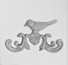 0508 Молд Птица орнамент