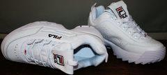 Кроссовки кожаные Fila Disruptor 2 all white RN-91175.