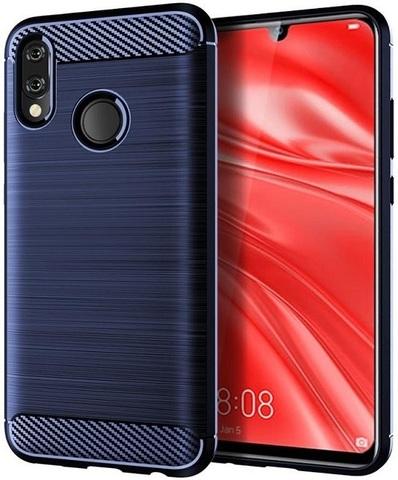 Чехол для Huawei Honor 10 lite (P Smart 2019 и Nova Lite3) цвет синий, серия Carbon от Caseport