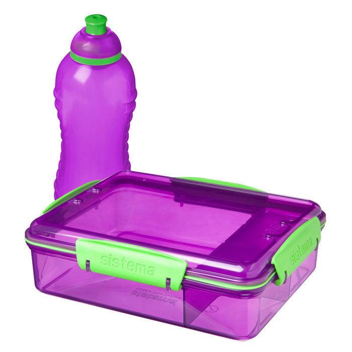 """Набор Sistema """"Lunch"""": ланч-бокс и бутылка, цвет Фиолетовый"""