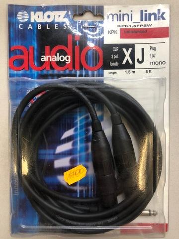 KLOTZ KPK1,5FPSW - Микрофонный кабель
