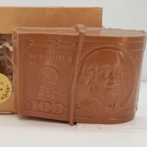 Пластиковая форма для шоколада муж. ПАЧКА ДОЛЛАРОВ (70х93мм)