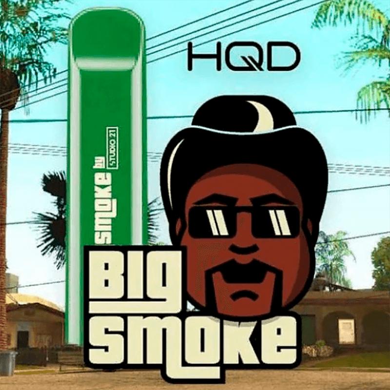 Одноразовая электронная сигарета HQD Cuvie - Big Smoke (Огурец) 300 тяг