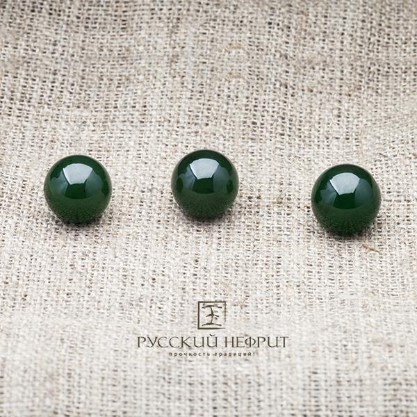 Вставки Шарик 10мм. Зелёный нефрит (класс модэ). businy_zel_10.jpg