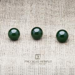 Шарик 10мм. Зелёный нефрит (класс модэ).
