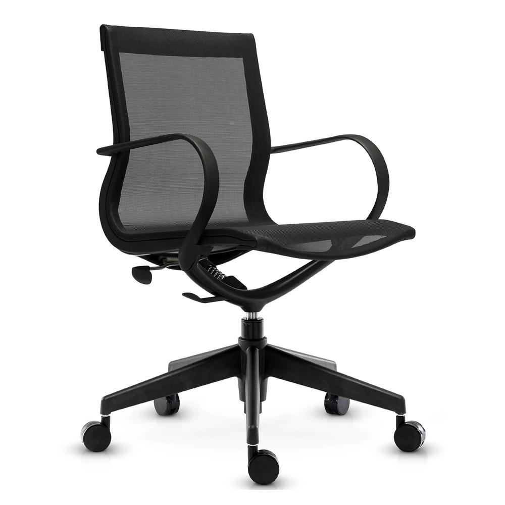 Кресло Mercury LB черная сетка, черный пластик - вид 1