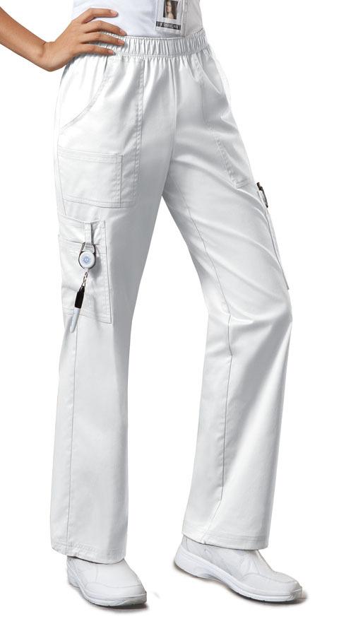 Брюки унисекс на высокий рост белого цвета Cherokee Workwear