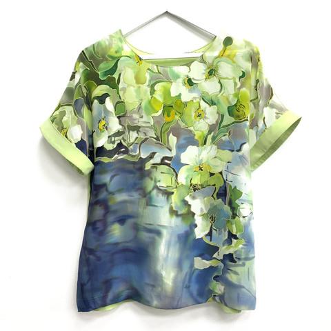Шелковая блузка батик Свежесть 2
