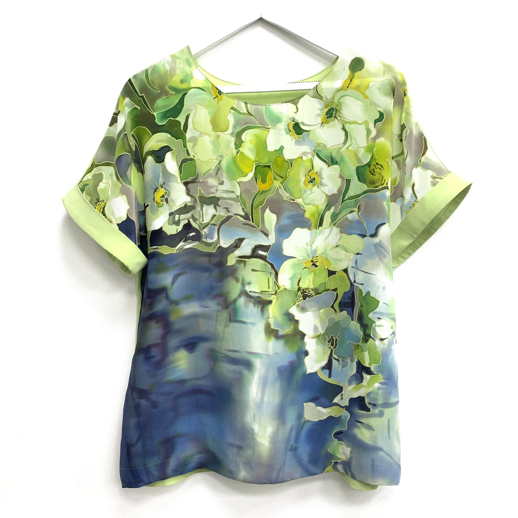 Шелковая блузка батик Цитрон 2