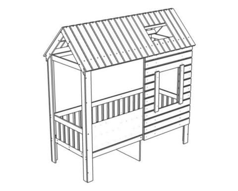 Кровать АМИ-2 с ящиками левая
