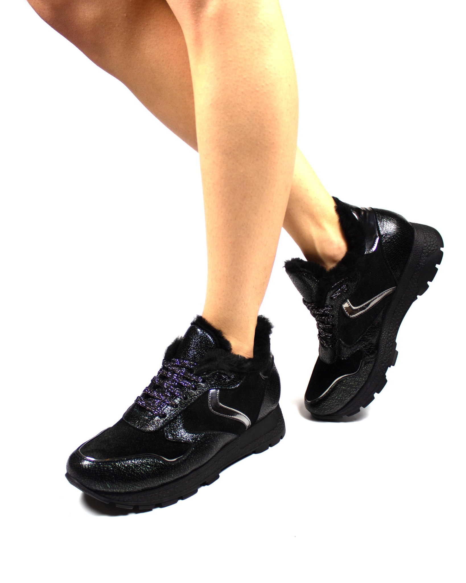 черные кроссовки Magnoliya