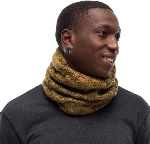 Комплект шапка шарф вязаный с флисом Buff Savva Bark фото 2