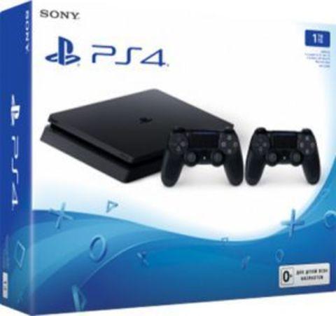 Игровая консоль Sony PlayStation 4 Black Slim 1Tб (CUH-2208B) + второй DualShock 4