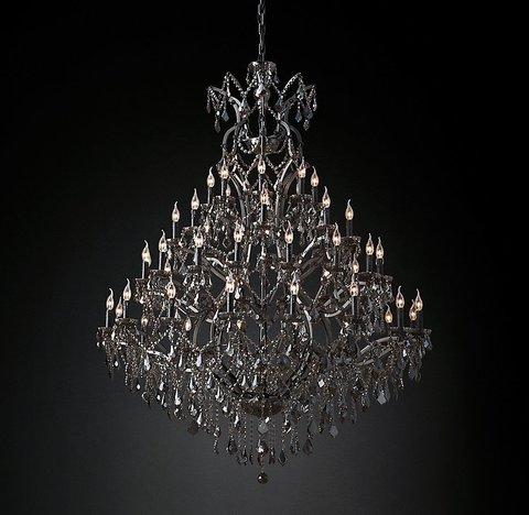 Подвесной светильник копия 19th C. Rococo Iron & Smoke Crystal Round Chandelier 60