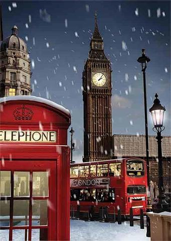 Алмазная Мозаика 40x50 Зимний лондон