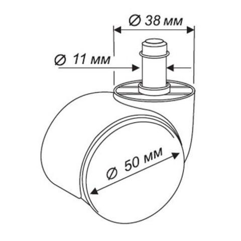 Набор колес для паркета/ламината (Бюрократ)