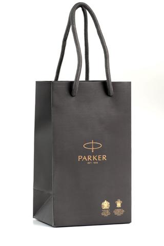 Фирменный бумажный пакет Parker малый123