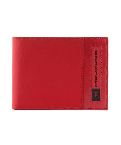 Кошелек Piquadro Bios, красный, 12,5x9x2 см