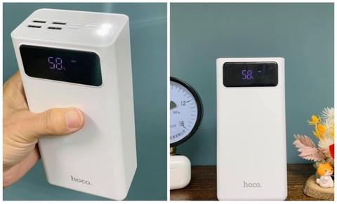 Внешний аккумулятор Power Bank Hoco J65B 50000mAh с фонариком (Белый)