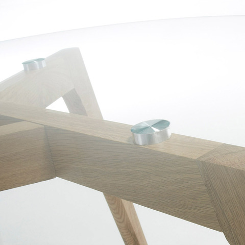 Журнальный столик Brick стеклянный 90 см