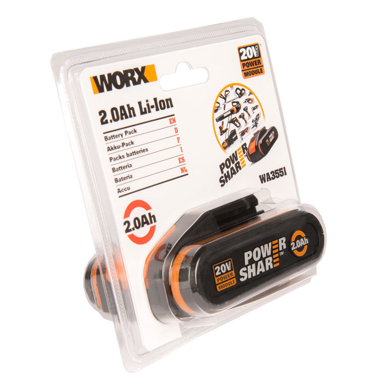 Аккумулятор WORX WA3551 20В, 2Ач