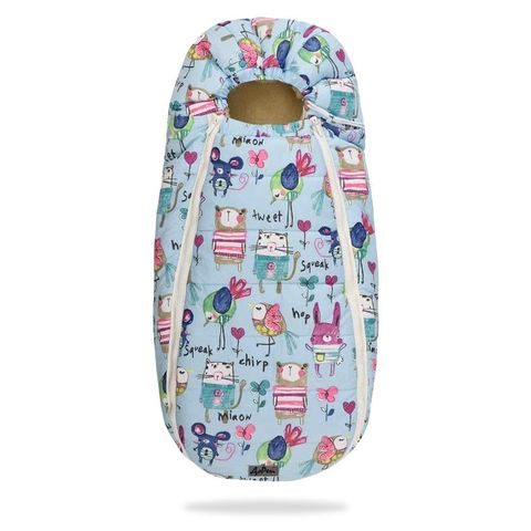 Зимний конверт для новорожденного на выписку и прогулку Baby XS Рисунки на Голубом фоне