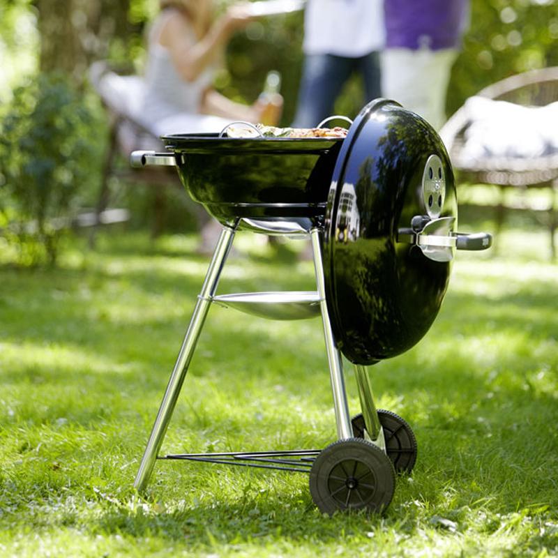 Гриль-барбекю угольный Weber Compact Kettle 47 см, черный.
