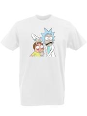 Футболка с принтом мультфильма Рик и Морти (Rick and Morty) белая 0001