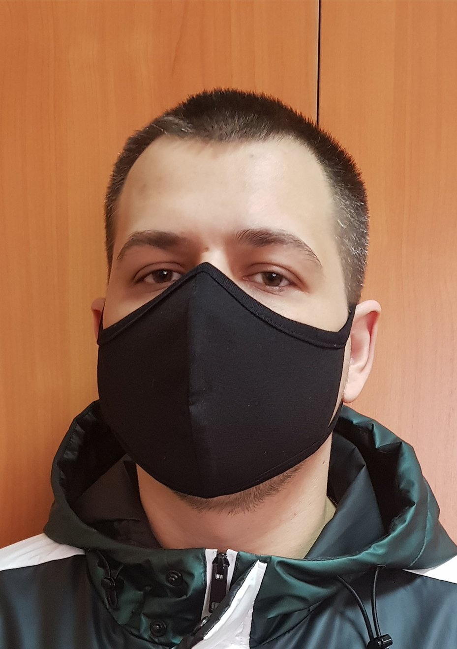 Повязка на лицо черная