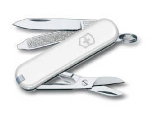 Нож-брелок Victorinox Classic, 58 мм, 7 функций, белый123