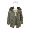 Куртка Аляска Slim Fit N-3B RF натуральный мех (зеленая - s.green)