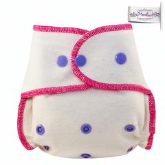Подгузник из  хлопка для новорожденных с вкладышем Mamalino Малинки (3 кг- 8 кг)