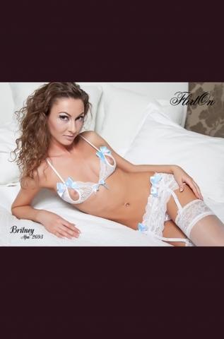Комплект белья Britney белый размер 46-48 2693-46-48