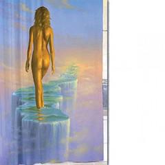 Шторка для ванной тканевая Zalel Дорога в небо 180х180 см, с фотопринтом