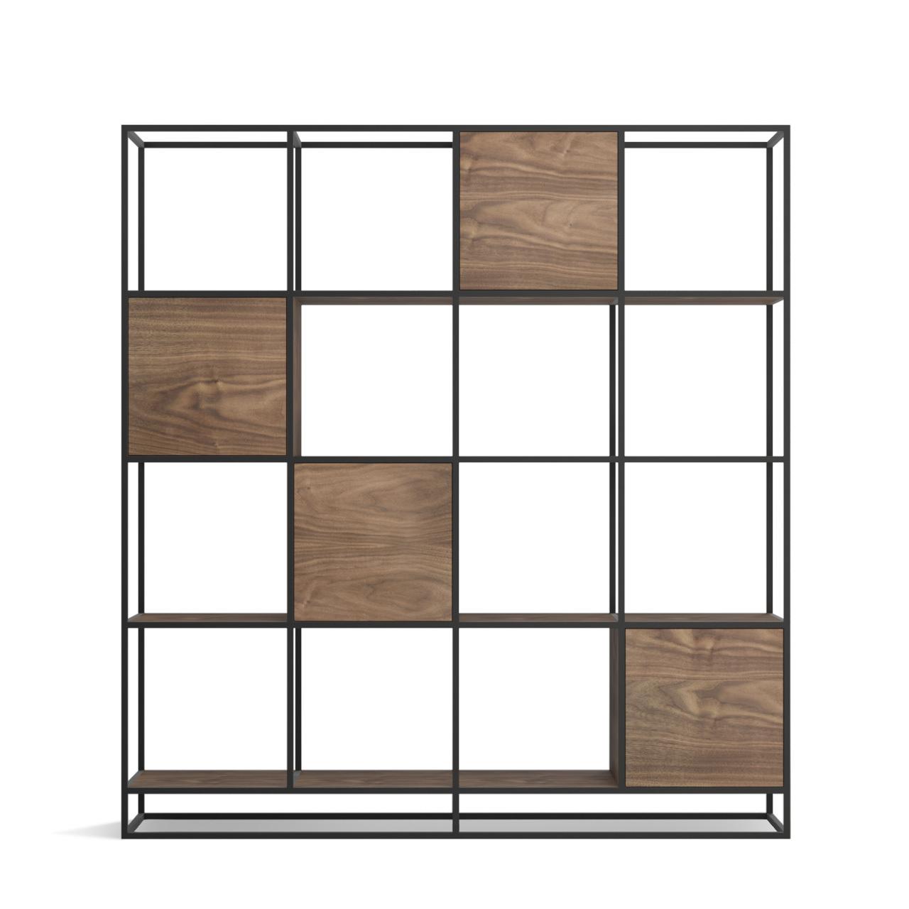 Стеллаж Intelligent design Kvadra 4 секции, черный - вид 7