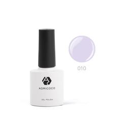 Цветной гель-лак ADRICOCO №010 пепельно-сиренев...