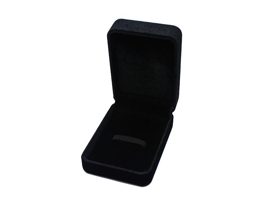 коробка бархатная черная big