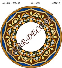 Эскиз для росписи, Зеркало диаметр 29см, SMAR-zmk-9