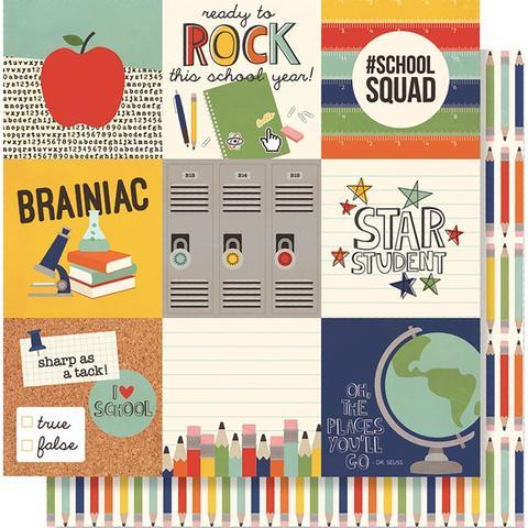 Лист двусторонней бумаги 30х 30 см -Simple Stories  School Rocks!- 4