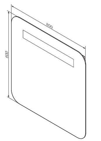 Комплект мебели AM-PM Gem 75 см (тумба с раковиной+зеркало)