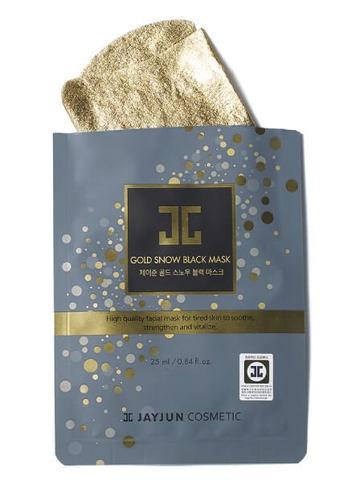 JAYJUN GOLD SNOW BLACK MASK (5PC)