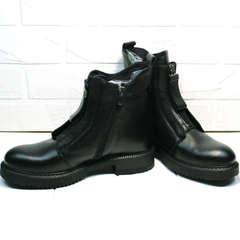 Стильные осенние ботинки женские Tina Shoes 292-01 Black.