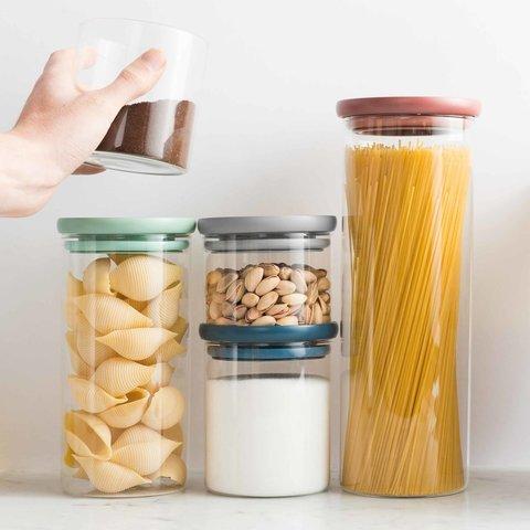 Стеклянный контейнер для спагетти Leo