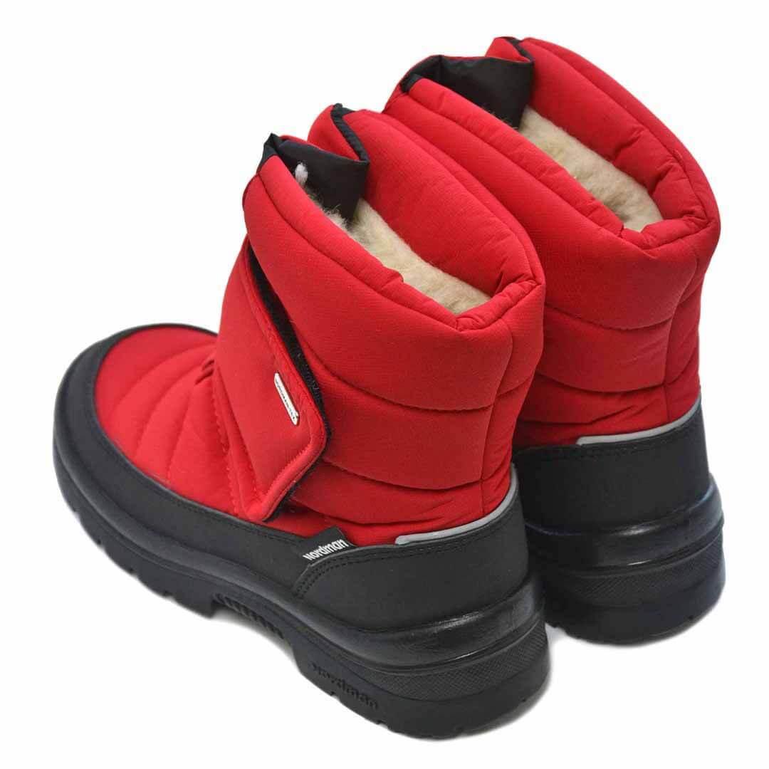 Зимние детские сапоги с мембраной Nordman Smart красные