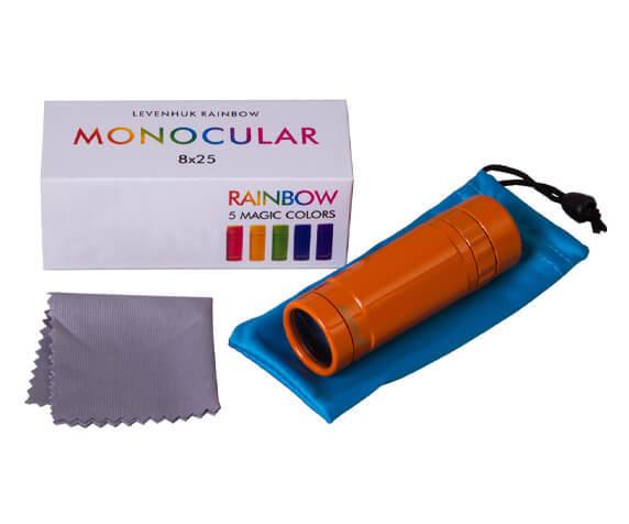 Монокуляр Levenhuk Rainbow 8x25 Sunny Orange - фото 5