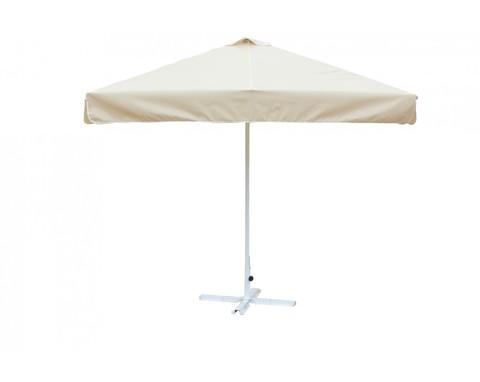 Зонт 2.5х2.5 м с воланом (стальной каркас с подставкой, тент OXF 300D) Цинк