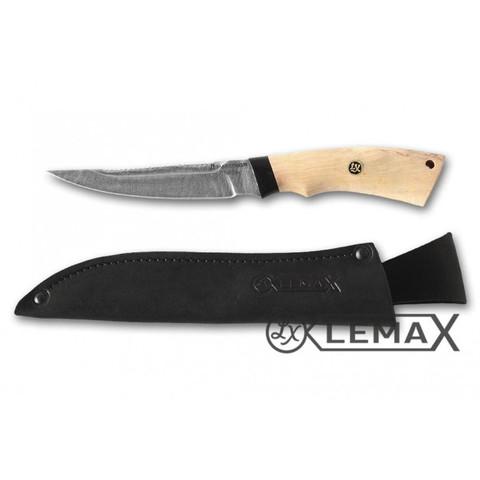 Нож Рыбак-2, дамаск, карельская берёза