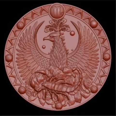 Силиконовый молд № 373  медальон  Скорпион