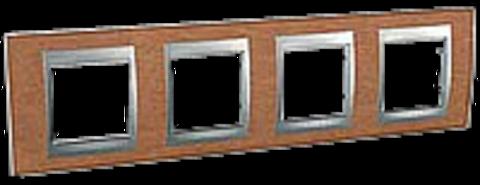 Рамка на 4 поста. Цвет Вишня. Schneider electric Unica Top. MGU66.008.0M2